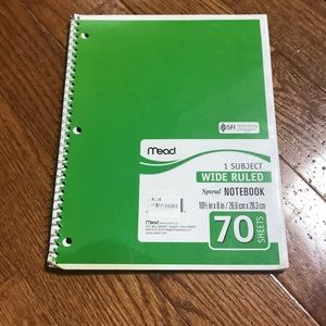 🎁College ruled spiral notebook
